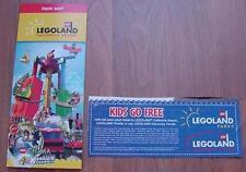 One (1) Legoland KID KIDS CHILD Go Free California or Florida Good 6/30/2017