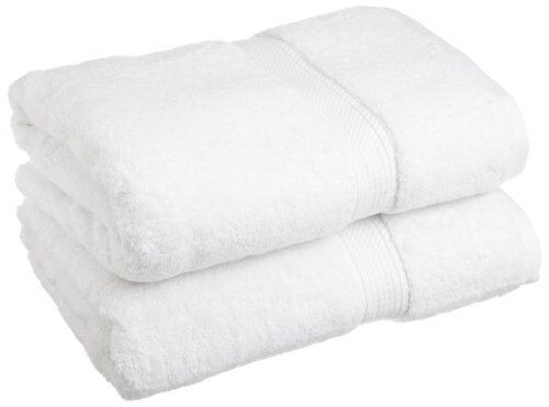 White Free Ship New Superior 900 Gram Egyptian Cotton 2-Piece Bath Towel Set
