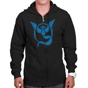 Pok-mon-Go-Cool-Video-Game-Hooded-Fleece-Team-Mystic-Nerd-Gamer-Zipper-Hoodie