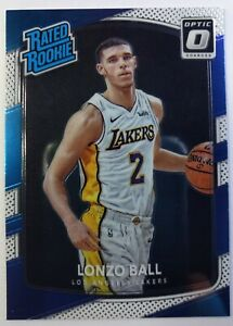 2017-18-Panini-Optic-Rated-Rookie-Lonzo-Ball-RC-199-Los-Angeles-Lakers