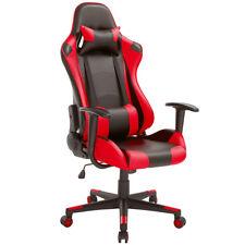 Sedia Poltrona Gaming Scrivana Ufficio Casa Reclinabile Girevole Direzionale Red