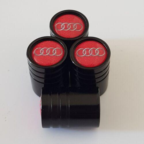 AUDI black Wheel Valve Dust caps all models 9 colours 17mm zinc non stick q5 q7