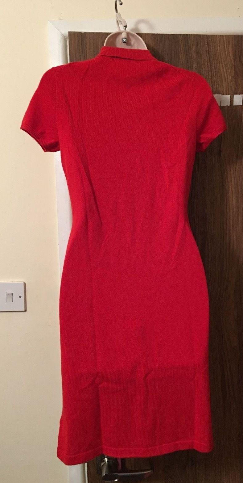 RALPH LAUREN Red 100% 100% 100% Cashmere Dress Size XSmall  RRP bd3365