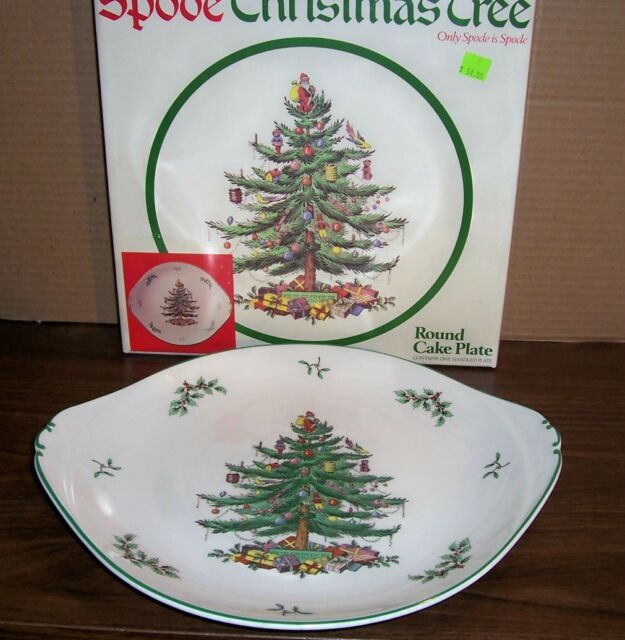 Spode Christmas Tree History: Spode Christmas Tree Display Plate Made In England S3324