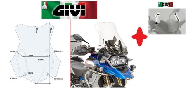 5124DT GIVI Cupolino Trasparente per BMW R 1250 GS 2019