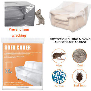 Clear Plastic Couch Cover Sofa Protector Cat Scratch Proof