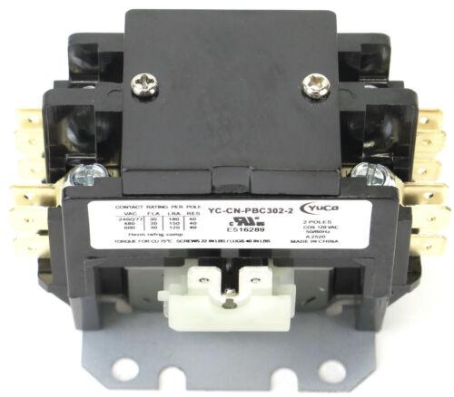 DEFINITE PURPOSE CONTACTOR 30A 2P 120V COIL YC-CN-PBC302-2 SA-2P-30A-120V