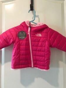 e26cd5f91 Details about The North Face Toddler Baby Reversible Mossbud Swirl Fleece  Hoodie Jacket NEW