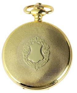 Taschenuhr-Weiss-Gold-Klassik-Wappen-Analog-Quarz-Metall-D-180302200057500