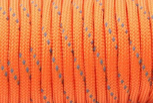 Reflective Paracord 550 Lanyard Tent Rope 7 Strand Parachute Cord Hiking Camping