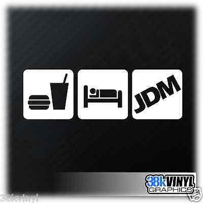 EAT SLEEP JDM Funny Novelty Car Window Bumper JAP Drift Vinyl Decal Sticker v2