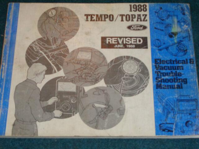 1988 Ford Tempo    Mercury Topaz    Wiring  U0026 Vacuum Diagram