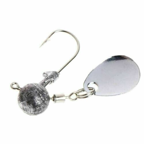 Details about  /Fishing Barbed Collar 2g 4g Lead Head Jig Hook with Lure Bait T I5W4