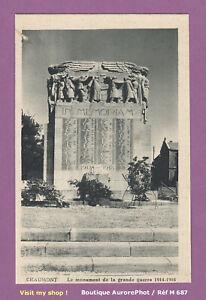 CHAUMONT-52000-MONUMENT-DE-LA-GRANDE-GUERRE-HELIOGRAVURE-CARTE-POSTALE-M687