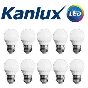 Pack-Commerce-X10-Kanlux-non-a-Variation-Bilo-3w-LED-E27-Blanc-Chaud