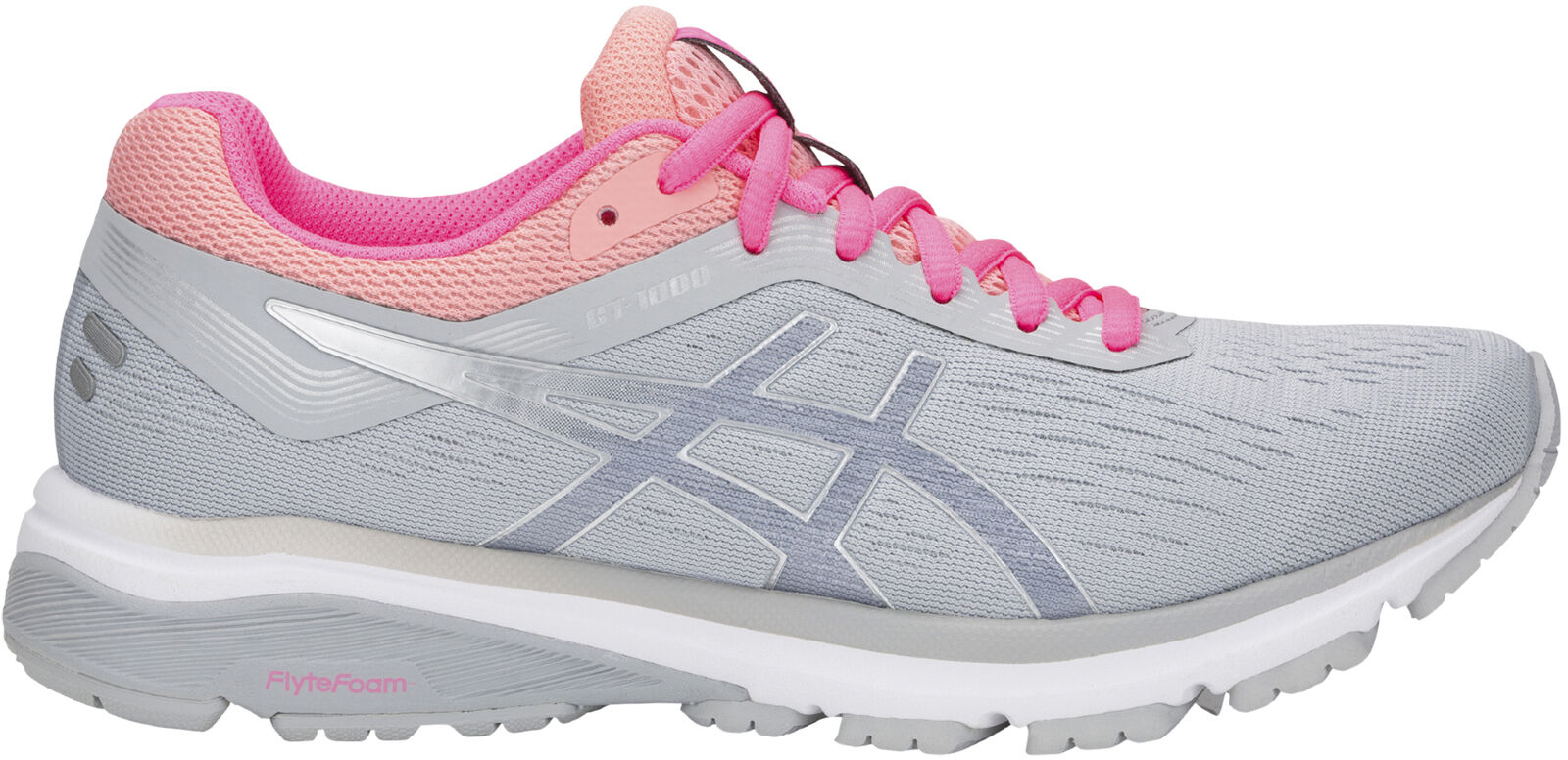Asics GT 1000 7 Vrouwen hardlopen schoenen Grijze gesuspendeerde Structunetwerk Support Trainers