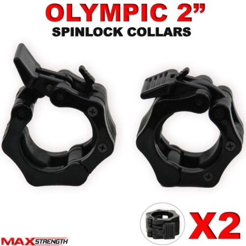 """OLYMPIQUE 2 /""""spinlock colliers Barbell Dumbell clips pince poids bar verrous paire"""
