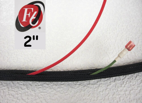 "Split Loom 2/"" Flexo F6 Braided Cable Sleeving Wrap Techflex F6N2.00BK"