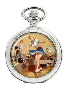 Bowling-Accident-Pin-up-Girl-Pocket-Watch