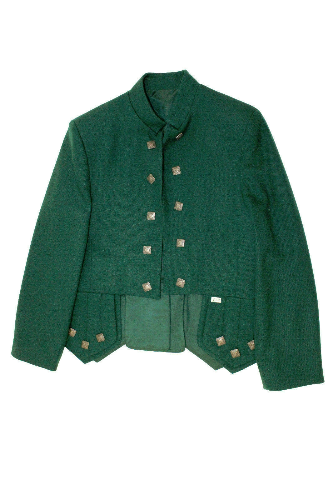 Green Sherriffmuir chrome buttons Kilt Jacket & Vest - reduced to clear