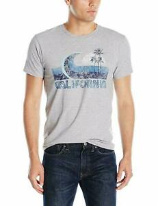 Hanes Graphic Vintage Cali Collection T-Shirt,California Wave Light Steel, Small