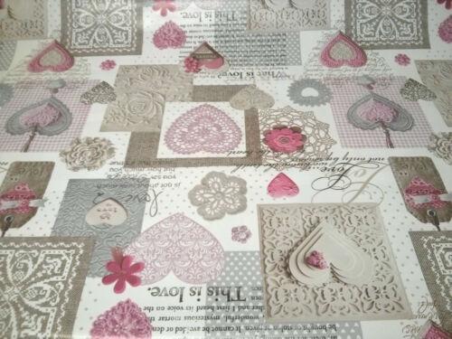 envoi gratuit Pvc nettoyage nappe toile cirée vinyl pvc coeur designs et couleurs