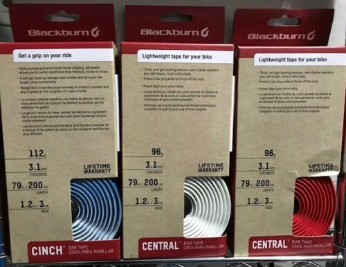 Bolt-In Plugs Cinch Handlebar Tape Super-Grippy 3.1mm-Thick Gel-Backed Tape
