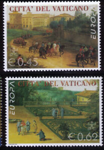 2004-Vatican-Europa-CEPT-Holidays-Paintings-MNH