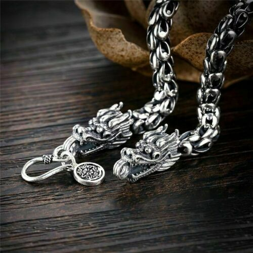 Details about  /Animal Shape Dragon Scale Sterling Link Chain Thai Silver Bracelets Gift For Men