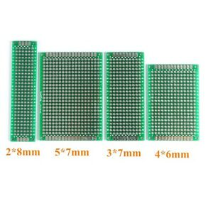 5 x Double Side Prototype PCB Bread board Tinned Universal 2x8 cm 20mmx80mm UK