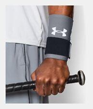Under Armour Baseball Grey Compression Wrist Strap Reversible L/XL 1252597 035
