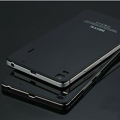 """Aluminum Bumper Tempered Glass Battery Cover Case For Lenovo K3 NOTE A7000 5.5"""""""