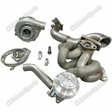 Top Mount Turbo Kit Downpipe Wastegate For Toyota Corolla AE86 4AGE Engine