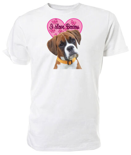 I Love Boxers T shirt Boxer Dog Choice of size /& colours!
