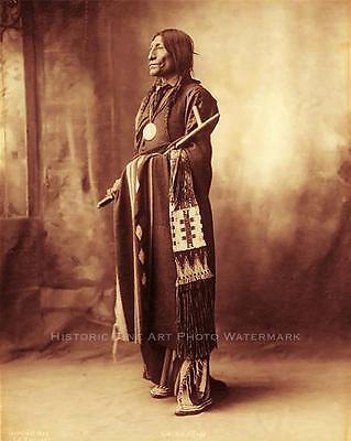 CHEYENNE INDIAN CHIEF WOLF ROBE VINTAGE PHOTO NATIVE AMERICAN WARRIOR #21352