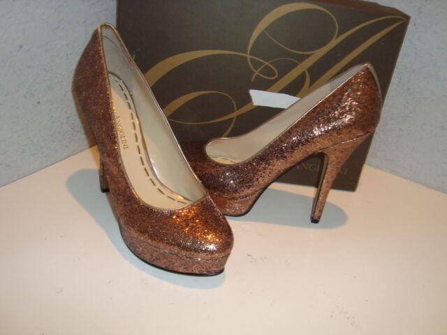 Enzo Angiolini NWB Damenschuhe Schuhes Smiles Gold Sequin Heels Schuhes Damenschuhe 8.5 Medium ba8c41