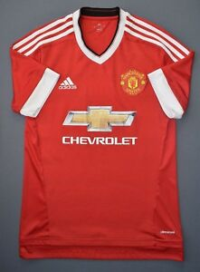 Manchester-United-Jersey-2015-2016-Home-S-Shirt-Mens-Red-Football-Adidas-ig93