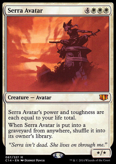 SERRA AVATAR NM mtg Commander 2014 White - Creature Avatar Mythic