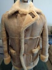 ✰RUGGED✰ SCHOTT Marlboro MAN SHEEPSKIN Shearling COAT Jacket CLASSIC