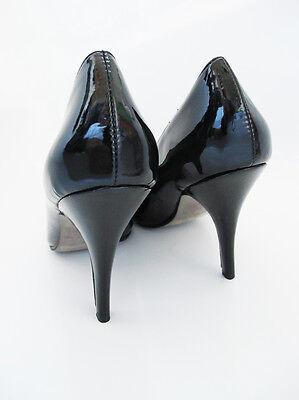 Noe Tacón Alto Mujer Bombas Tribunal Zapatos Tacón De 4 Pulgadas Negro