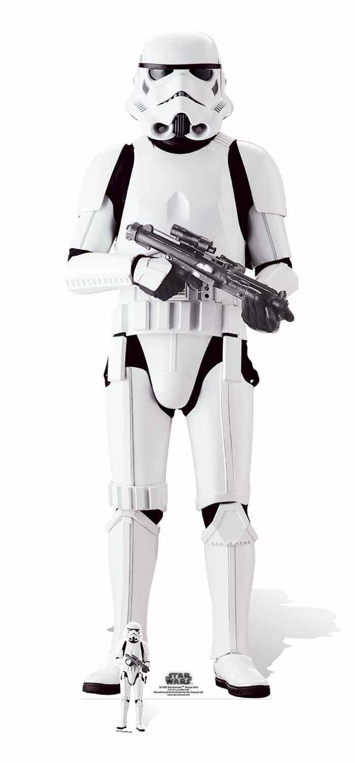 Stormtrooper Rogue One  A Star Wars Story LifeGröße and Mini Cardboard Cutout