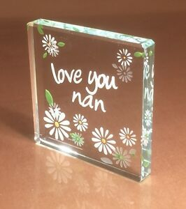 Image Is Loading Love You Nan Spaceform Glass Token Birthday Gift