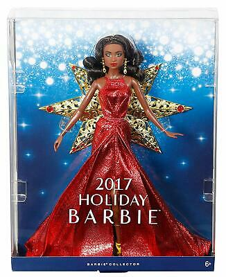 Barbie 2017 Holiday Nikki Black Hair With Red Dress Doll Perfect Gift Xmas New
