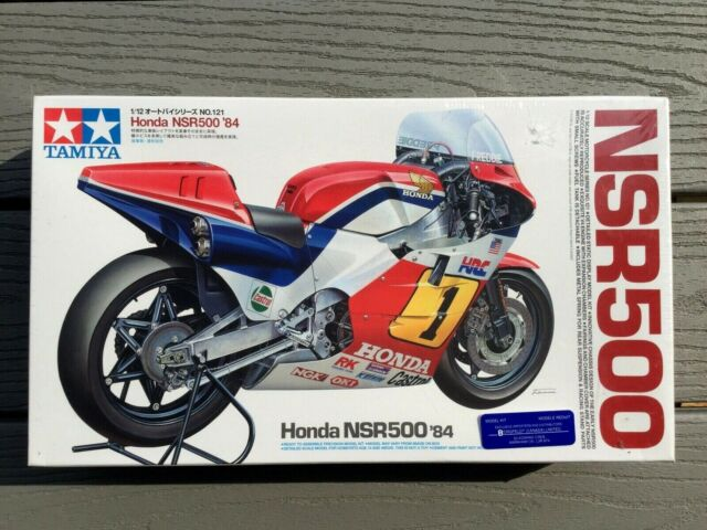 TAMIYA 1/12 MOTO GP HONDA NSR500 1984 FREDDIE SPENCER MOTORCYCLE MODEL 14121 F/S