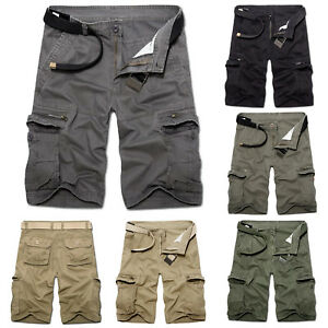 Mens-Cargo-Shorts-Military-Army-Combat-Short-Pants-Work-Tactical-Casual-Trousers