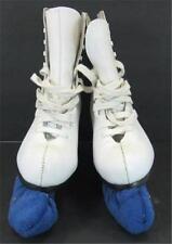 American Rocket Ladies Figure Ice Skates 524 Size 8 Blade Guards White Womens