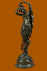 Nude-Woman-With-Grapes-Bronze-Sculpture-Hot-Cast-Figure-Lost-Wax-Method-Figure