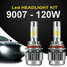 2x 9007 120W LED Headlight Light Car Kit 6000K White Hi/Lo Beams 12000LM Bulbs