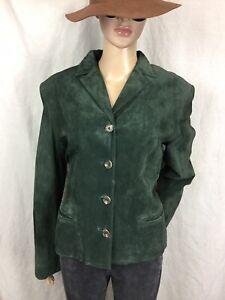 daim Ralph Femmes de Rare Lauren M chic Blazer en cuir Veste vert manteau Yqn5gnw