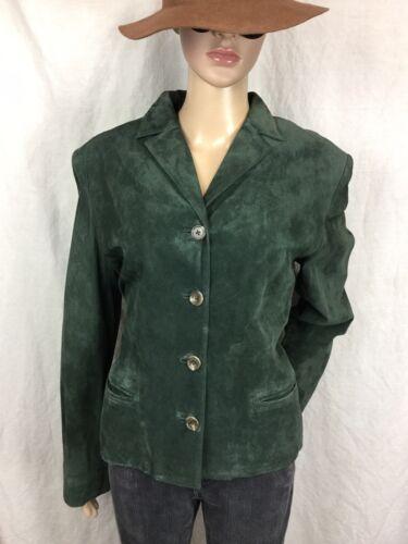 Femmes chic cuir manteau vert en Ralph Rare de Blazer M daim Veste Lauren xSPBwqU